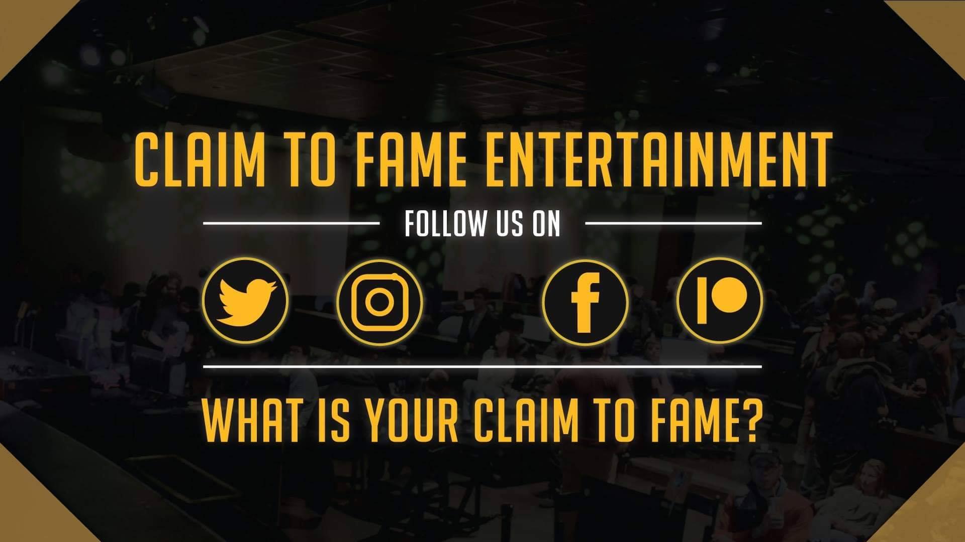 Claim to Fame Entertainment - Social Media